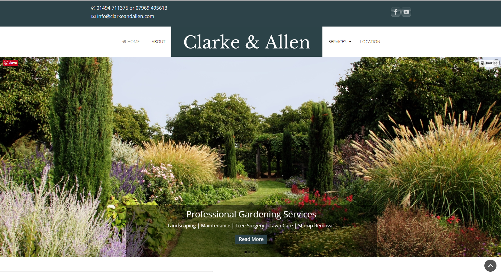 Clarke and Allen | Small Business Website, High Wycombe