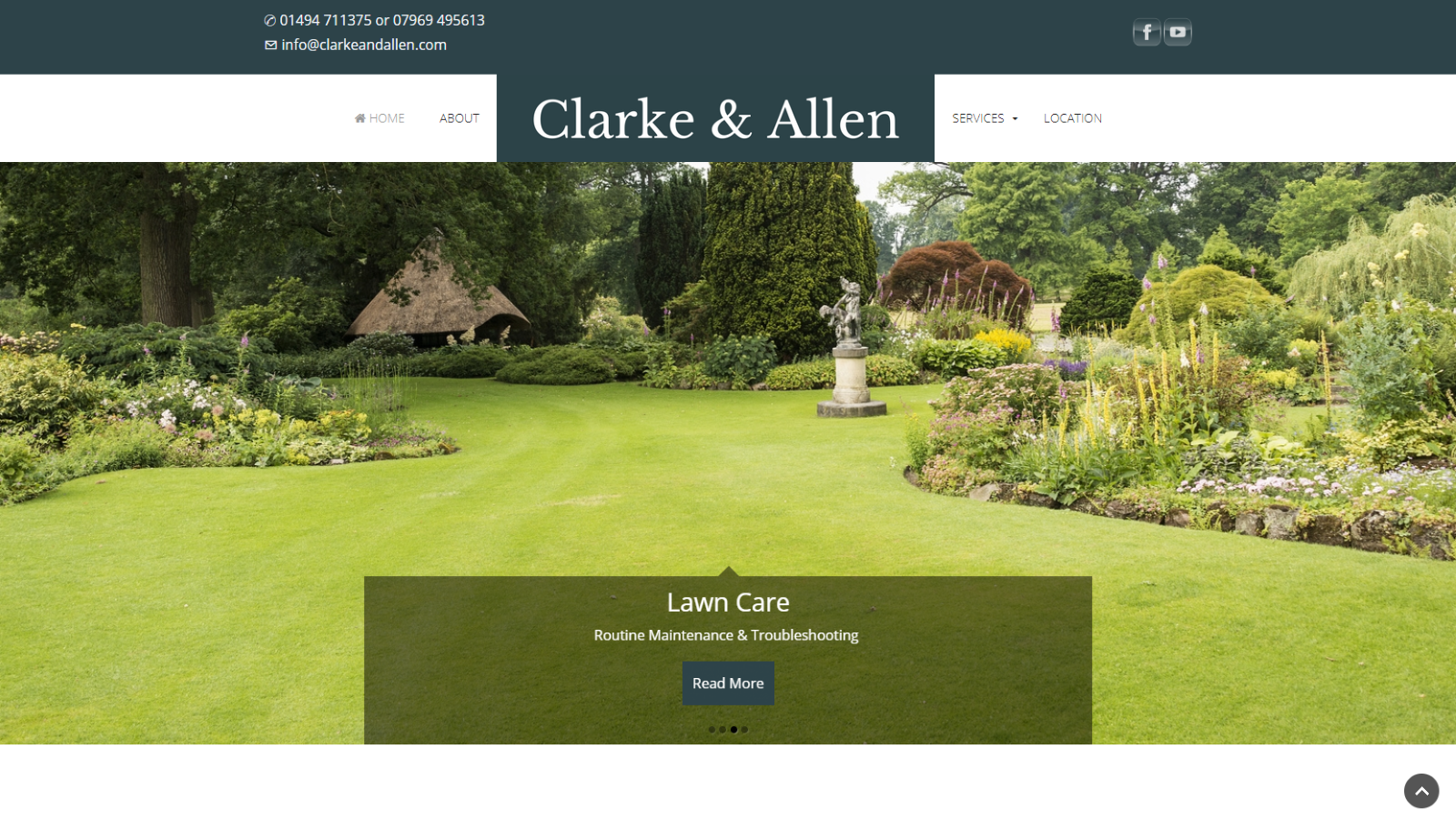 Clarke and Allen Small Business Website High Wycombe