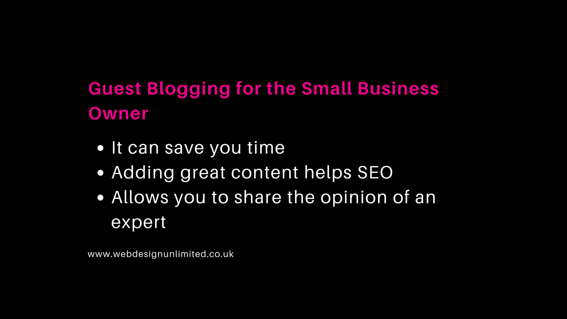 Guest blogging and the benefits to a small business website